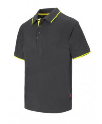Polo bicolor raya manga corta
