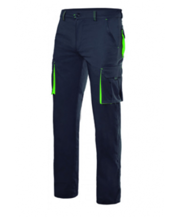Pantalón bicolor stretch...